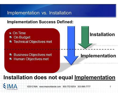 Installation vs. Implementation
