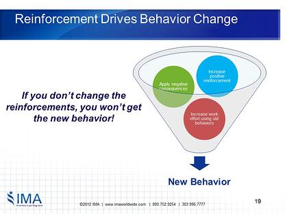 Reinforcement Drives Behavior Change