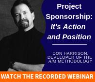 Project Sponsorship Webinar