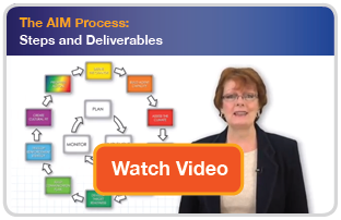 The AIM Process:  Steps and Deliverables
